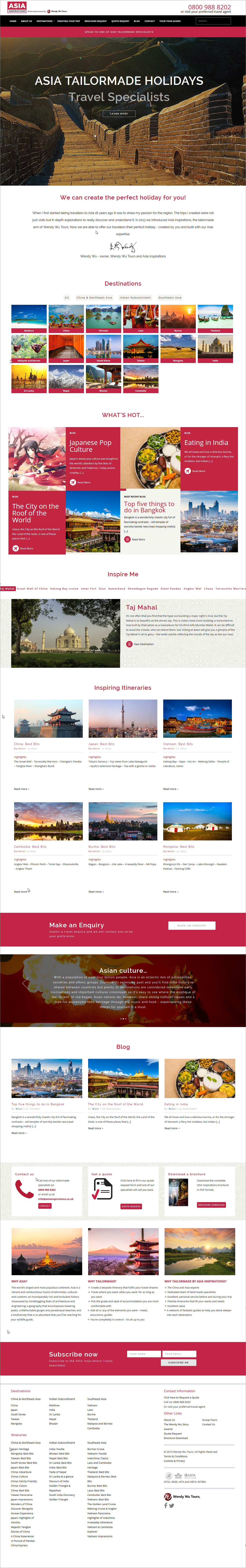 Asia Inspirations Homepage